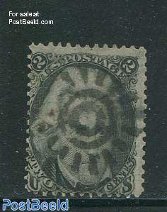 2c Black, used