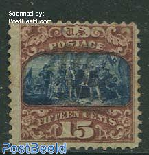 15c Brown/blue, somewhat brown on left side, used