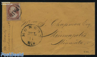 Letter from Monroe (Wis.) to Minnesota