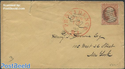 Small envelope to New York with George Washington stamp