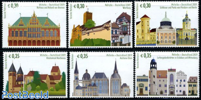 World heritage, Germany 6v (from booklet)