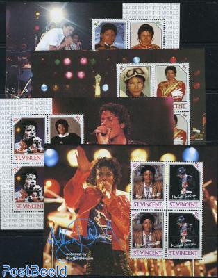 Michael Jackson 4 minisheets