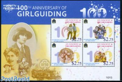 100th anniv. of Girlguiding 4v m/s