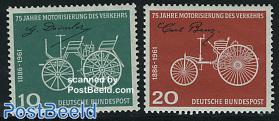 75 years automobiles 2v (Daimler, Benz)