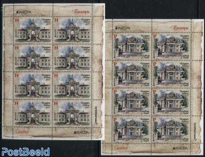 Europa, Castles 2 minisheets