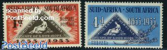 Cape of Good Hope stamp centenary 2v