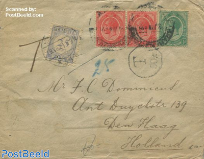Envelope from South African Republic to Den Haag