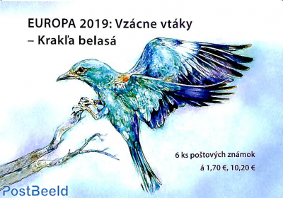 Europa, birds booklet s-a