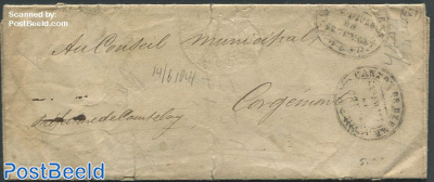 Folding letter from and to Corgemont