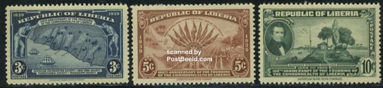 Republic centenary 3v