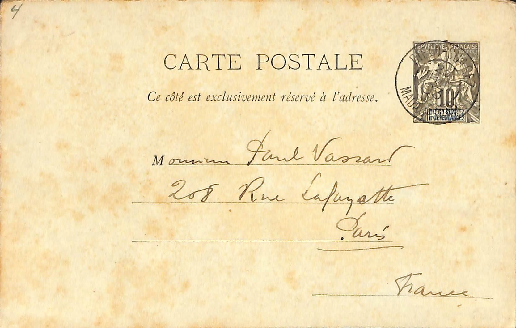 Diego Suarez, Postcard 10c
