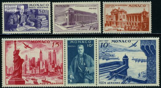 New York philatelic exposition 6v (3v+[::])