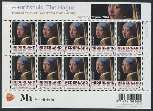 Mauritshuis Museum, Vermeer Girl with pearl earring minisheet